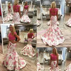 Cool Mermaid Dresses Princess Prom Dress  2016 Awesome Two Pieces Prom Dresses With Cap Sleeves And Keyhole Back High Neck Fuchsia Lace Print 3d Floral Satin Mermaid Ring Dance Gowns Prom Dress Under 100 From Nicedressonline, $210.95| Dhgate.Com Check more at http://24store.cf/fashion/mermaid-dresses-princess-prom-dress-2016-awesome-two-pieces-prom-dresses-with-cap-sleeves-and-keyhole-back-high-neck-fuchsia-lace-print-3d-floral-satin-mermaid-ring-dance-gowns-prom-dress-under-100-f/