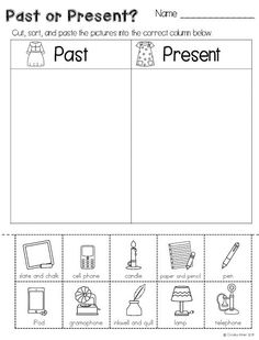 math worksheet : today and the past social studies for kindergarten picture sort  : Kindergarten History Worksheets