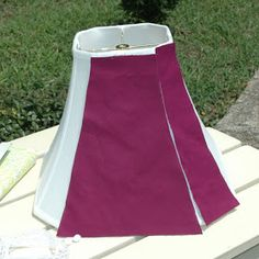 * Sew we Stitch: Guest #12 at Wantobe Quilters Here is Amanda -Covering a lampshade - with fabric!