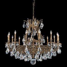 Schonbek Sophia 14 Light Crystal Chandelier Finish: French Gold, Crystal Color: Optic Clear