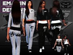 Designed by Emagin Designs Found in TSR Category 'Sims 4 Female Clothing Sets' Male Sweaters, Sims 4 Cc Kids Clothing, Vans Checkered, Boy Outfits, Fashion Outfits, Toddler Pants, Stussy, Sweater Shirt, Outfit Sets