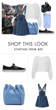 """""""Sight-seeing and taking pictures with Yoongi"""" by honeyboyoongi ❤ liked on Polyvore featuring Vans, Sans Souci, Lancaster, WithChic and Casetify"""