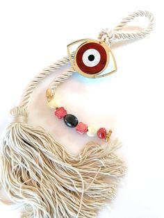 Evil eye home decor,evil eye ornament, evil eye good luck charm, Greek gouri, evil eye wall hanging, gouri, Lucky charm 2020, Christmas gift by OulalaShop on Etsy