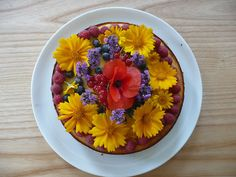 Vue sur...: flowers and fruits cheesecake