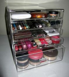 makeup storage. Need this!!