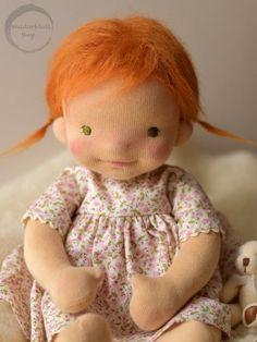 15 natural fibre art doll baby doll by waldorfdollshop – Artofit Mini Bebidas, Homemade Dolls, Knitted Dolls, Crochet Dolls, Waldorf Toys, Doll Tutorial, Sewing Toys, Doll Hair, Soft Dolls