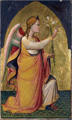 Niccolò di Pietro Gerini -  Angelo dell'Annunciazione - 1387 - tempera e oro su tavola - Feigen Collection, New York