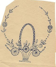 Funoldhag: Basket Embroidery Patterns