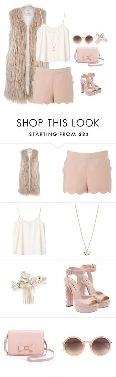 """""""Fur vest"""" by mrsfreespirit ❤ liked on Polyvore featuring River Island, Lipsy, Monki, Minor Obsessions, Wedding Belles New York, Miu Miu, Ted Baker and Linda Farrow"""