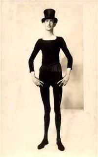 "Israel Bressner, AKA ""Slim the Shadow,"" of Baltimore, Maryland, was 7 feet tall and weighed 90 pounds. He was the skinniest man ever. He weighed the same weight for 16 years. He worked for Ringling Brothers."