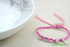 Pink and purple handcrafted beaded jewelry - free crochet bracelet pattern with beads - Pandahall.com