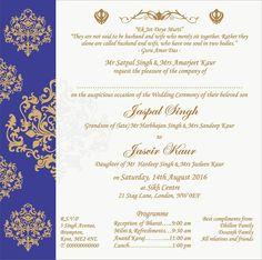 Wedding Invitation Wording For Sikh Ceremony