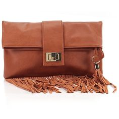 Pre-owned Just Fab Clutch: Brown Women's Bags ($17) ❤ liked on Polyvore featuring bags, handbags, clutches, brown, hand bags, preowned handbags, brown handbags, brown clutches and man bag