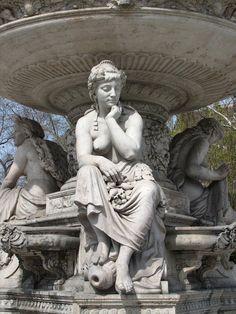 Danubius Fountain, Erzsébet Square, Budapest.