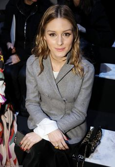 Olivia Palermo attends the Elie Saab Fall 2017 show on March 4, 2017 in Paris