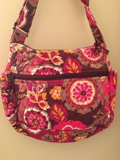 Vera Bradley Carnaby On The Go Bag Crossbody Shoulder Bag Purse Retired  Floral  VeraBradley   f649b3c2f1