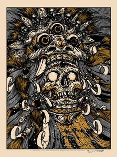 INSIDE THE ROCK POSTER FRAME BLOG: New Badass Prints from Jeral Tidwell Bali Skull and other stuff