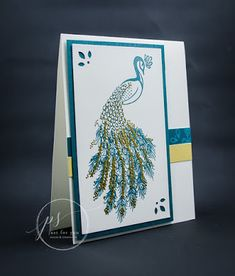 Here's a beautiful card tutorial for you, created by Linda Yamamoto: Supplies : Stamp Sets – Royal Peacock Card. Scrapbook Paper Crafts, Scrapbook Cards, Scrapbooking, Peacock Images, Stamp Pad, Bird Cards, Craft Tutorials, Craft Ideas, Stamping Up