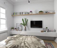 Дизайн спальни в современном стиле для молодой девушки.Нежный и мягки интерьер  в этом проекте хотелось показать твердую натуру хозяйки,ее элегантность,женственность Какая спальня вам нужна?Что нравится вам? Home Living Room, Apartment Living, Interior Design Living Room, Living Room Decor, Bedroom Decor, Living Room Tv Unit Designs, Apartment Makeover, White Rooms, Decoration