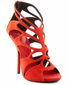 Some of you have to get in on this: Guiseppe Zanotti Suede Open-Toe Cage Bootie