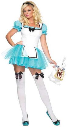 Sexy Alice in Wonderland Costumes. Dazzle in this Enchanted Alice In Wonderland Sexy Costume designed to make you look hot! Officially licensed Alice in Wonderland costume. Adult Costumes, Costumes For Women, Halloween Costumes, Cosplay Costumes, Sexy Outfits, Leg Avenue Costumes, Alice Costume, Smurf Costume, Alice In Wonderland Costume