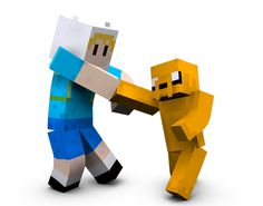 minecraft finn and jake by stevied33