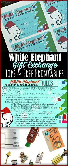 Different version of the gift exchange game | Christmas | Pinterest ...