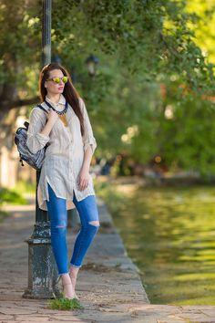 Πουκάμισο Μπεζ Λινό Μακρύ, YourLook Hipster, Style, Fashion, Swag, Moda, Hipsters, Fashion Styles, Fasion