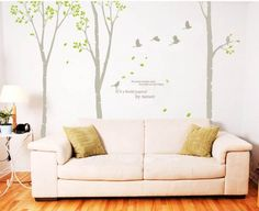 nature Decal Wall Stickers Vinyl Wall Decor tree bird by goodsale1, $66.90