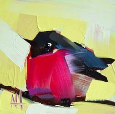 Pink Robin Painting | angela moulton's painting a day
