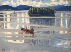 Akseli Gallen-Kallela (Finnish, 1865-1931), Lake Keitele, 1919. Oil on canvas, 44 x 62.5 cm.