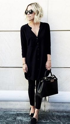 A Shirtdress, Pants, and Loafers