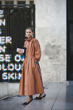 """The Best """"What IS She Wearing?"""" Looks From Paris #refinery29  http://www.refinery29.com/2015/10/95202/paris-fashion-week-spring-2016-street-style-pictures#slide-32  Making a case for kitten heels...."""