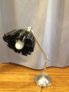 An old vinyl record and an old desk lamp - wonderful!