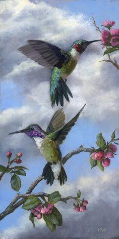 57 Ideas For Tattoo Bird Hummingbirds Nature Images Colibri, Art Colibri, Pretty Birds, Beautiful Birds, Graffiti Kunst, Hummingbird Pictures, Hummingbird Painting, Bird Drawings, Colorful Birds