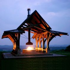 The pavilion might have to be a little smaller to fit in my yard, but I like the fire ring.