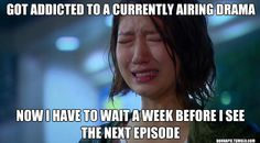I purposely wait till all the episodes are subbed and loaded before I even consider watching a drama for this very reason!