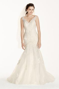 fee41aaf225 David s Bridal offers a collection of wedding dresses for short   petite  women in various styles   lengths at an affordable price. Book an  appointment now!
