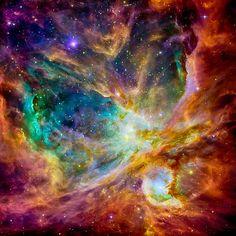 The Orion Nebula taken by the Hubble Telescope - Whirlpool Galaxy-Andromeda Galaxy-Black Holes Telescope Images, Hubble Space Telescope, Orion Nebula, Andromeda Galaxy, Hubble Galaxies, Helix Nebula, Carina Nebula, Nebula Tattoo, Nebula Wallpaper