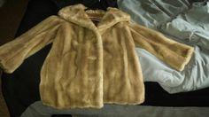 Vintage Grandella II Styled by Sportowne Brown Fur Coat Size S Ex. Condition #GrandellaIIStyledbySportowne #BasicCoat