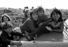 Gypsy families on Beckton Marshes East london./ my people down on the Winsor all housed now but still living wild n free
