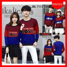 Fashion Sweater Couple Im His Only Terbaru