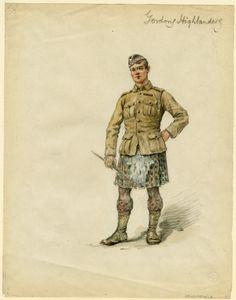 British/Scottish  WW1  Gordon Highlanders