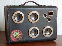 vintage suitcase speaker JukeCase boombox portable audio | Guitar ...
