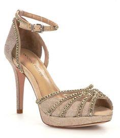Antonio Melani Baybette Jeweled Ankle-Strap Dress Sandals