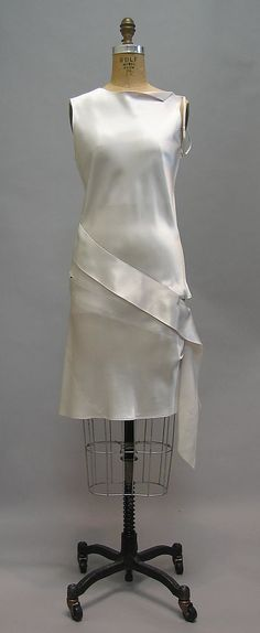 Dress  Helmut Lang (Austrian, born 1956)  Date: spring/summer 1997 Culture: Austrian Medium: silk, synthetic.  Credit Line: Gift of the artist, 2009!!!