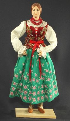 "19"" Polish folk costume doll POLAND ethnic dress Podlahe goral highlander"