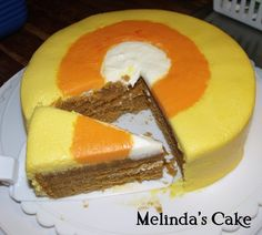 Candy Corn Cake. How did I not think of this?!