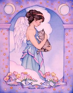 Image result for angels and cats