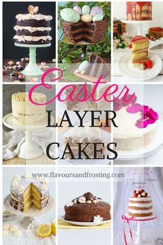 Awesomely delicious and beautiful Layer Cakes for Easter!